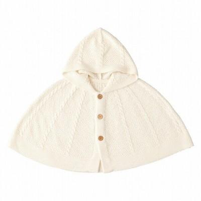 日本製 ケープ ベビー 羽織りもの オーガニックコットン ベルナチュール