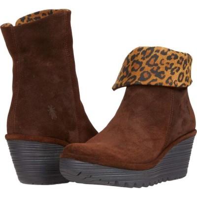 フライロンドン FLY LONDON レディース ブーツ シューズ・靴 YETY248FLY Brown/Tan Oil Suede/Cheetah Print