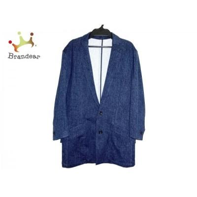 トルネードマート ジャケット サイズLL メンズ 美品 - ネイビー×ダークネイビー 長袖/春/秋 新着 20200906