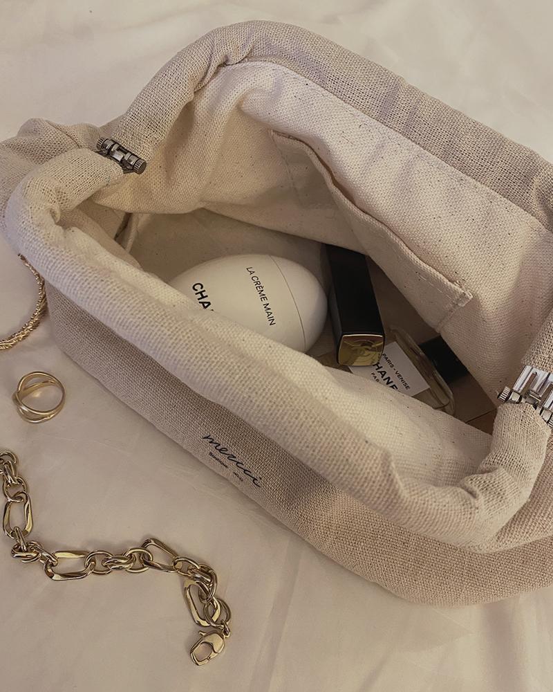 品牌亞麻化妝包-Mercci22