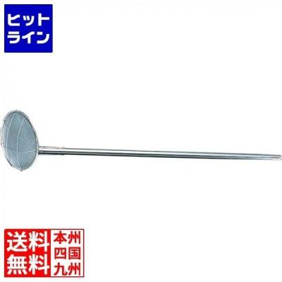 TS パイプ柄給食用すくい網 丸型 24cm 細目 柄長60cm ASK308