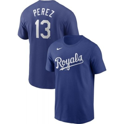 ナイキ Nike メンズ Tシャツ トップス Kansas City Royals Salvador Perez #13 Blue T-Shirt