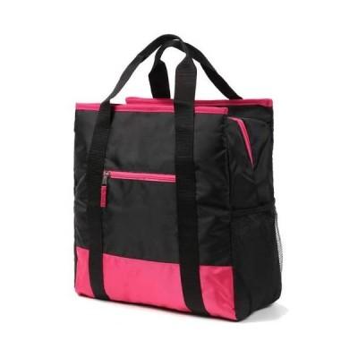 加藤さんが考えた自立 トートバッグ ジムバッグ フィットネス ジム 温泉 バッグ ヨガ ホットヨガ マザーズバッグ としても最適(ブラック/ピンク)