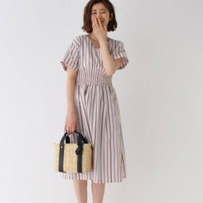 エージー バイ アクアガール(AG by aquagirl)/【Lサイズあり】ストライプシャーリングワンピース