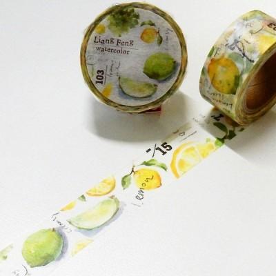 ラウンドトップ 小徑文化 Sicily マスキングテープ 20mm / レモン LiangFeng マステ 日本製