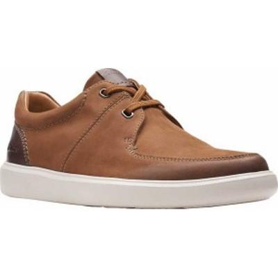 クラークス メンズ スニーカー シューズ Men's Clarks Cambro Sneaker Tan Nubuck