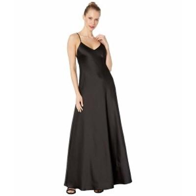 ビーシービージーマックスアズリア レディース ワンピース トップス V-Neck Gown Dress Black