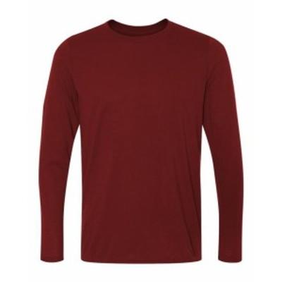 Gildan ギルダン ファッション トップス Gildan Mens Performance 4.5 oz. Long-Sleeve T-Shirt G424 Size S-3XL
