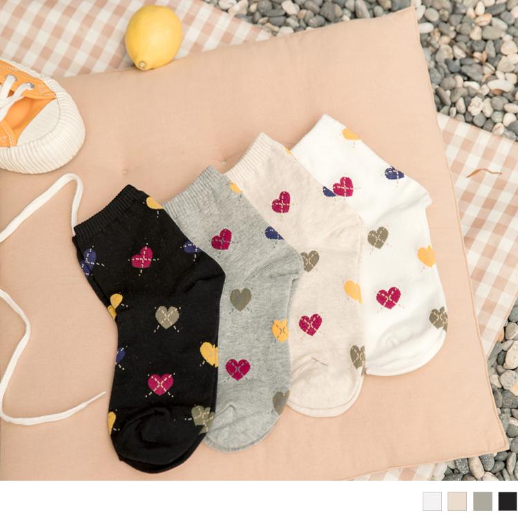 韓國製交叉愛心襪