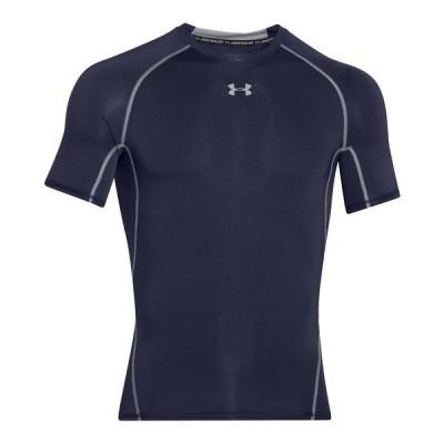 アンダーアーマー Tシャツ トップス メンズ Men's HeatGear® Armour Short Sleeve Compression Shirt Midnight Navy/steel