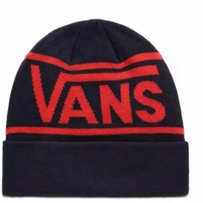ヴァンズ Vans メンズ ニット ビーニー 帽子 Drop V Stripe Cuff Beanie Dress Blues