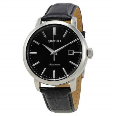 腕時計 セイコー メンズ Seiko Classic Automatic Black Dial Men's Watch SRPA27