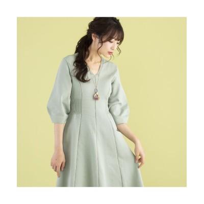 Rose Tiara/ローズティアラ ホールガーメントニットワンピース グリーン 38