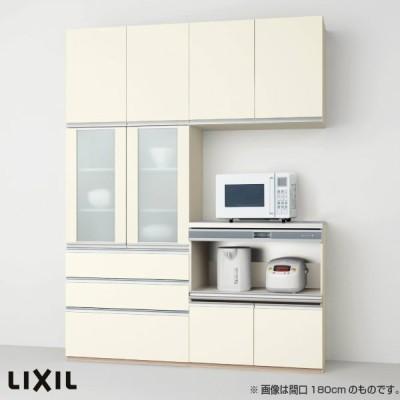 食器棚 キッチン収納 リクシル/LIXIL アレスタ 収納ユニット 壁付型 カップボード+ハイフロアプラン スライドストッカー+家電収納 S4004 グループ1