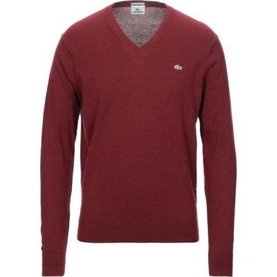 ラコステ LACOSTE メンズ ニット・セーター トップス sweater Maroon