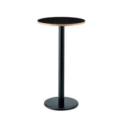 丸型ハイカウンターテーブルブラックホワイト2色天板業務用家具店舗用家具直径60cm st943-at252