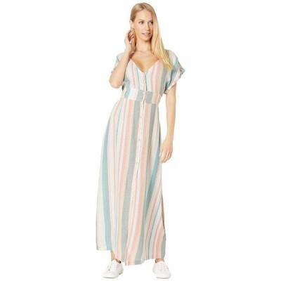 ロキシー ワンピース トップス レディース Furore Lagoon Dress Snow White Retro Vertical