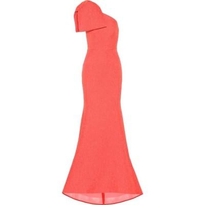レベッカ ヴァランス Rebecca Vallance レディース パーティードレス ワンショルダー ワンピース・ドレス Francesca one-shoulder gown Coral