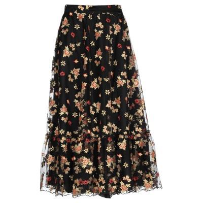 ブルーガール ブルマリン BLUGIRL BLUMARINE 7分丈スカート ブラック 40 ポリエステル 100% 7分丈スカート