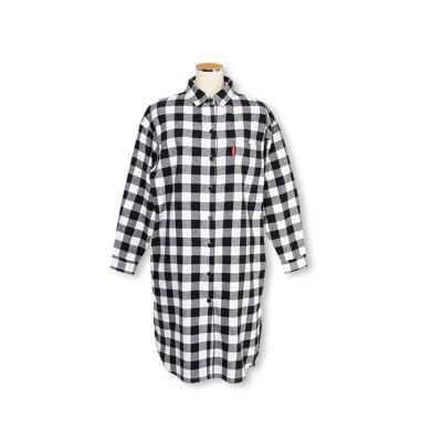 【BABYDOLL】チェック柄シャツワンピース 3238A (ワンピース)Dress