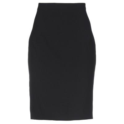 BOUTIQUE MOSCHINO ひざ丈スカート ブラック 42 トリアセテート 79% / ポリエステル 21% ひざ丈スカート