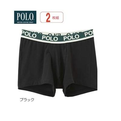 ポロ(POLP)メンズ  紳士肌着  【ボクサーブリーフ(前あき)】ブラック/ネービーブル—(M/L/LL/3L)同色2枚組