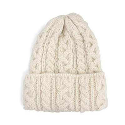 (ハイランド2000)Highland2000 アルパカ&ウール ニット帽 Alpaca British Wool Bobcap,WHITE