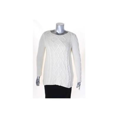 チャータークラブ セーター ニット Charter Club ホワイト 長袖 Scoop Neck セーター サイズ M MSRP 59 LAFO