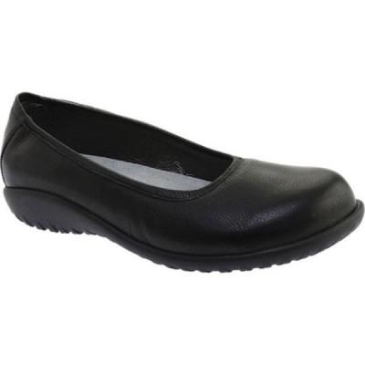 ナオト Naot レディース スリッポン・フラット バレエシューズ シューズ・靴 Taupo Ballet Flat Soft Black Leather