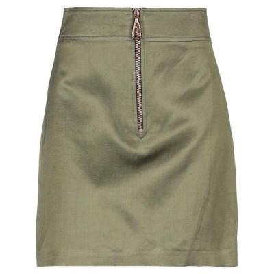 SANDRO ミニスカート  レディースファッション  ボトムス  スカート  ロング、マキシ丈スカート ミリタリーグリーン