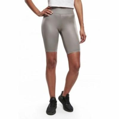 アーバンクラシックス Urban Classics レディース ショートパンツ ボトムス・パンツ - Imitation Leather Cycle Asphalt - Shorts grey