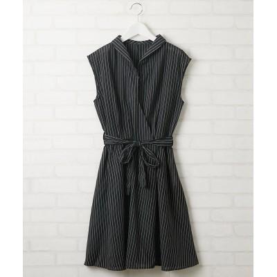 カシュクール風ノースリーブワンピース (ワンピース)Dress