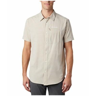 コロンビア シャツ トップス メンズ Twisted Creek II Short Sleeve Shirt Tusk Stripe