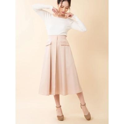 BE RADIANCE フラップデザインスカート(ピンク)【返品不可商品】