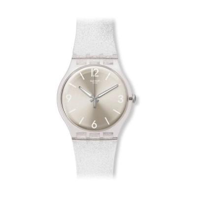 腕時計 スウォッチ レディース SUOK112 Swatch Mirrormellow Shimmer Silver Glitter Dial Transparent