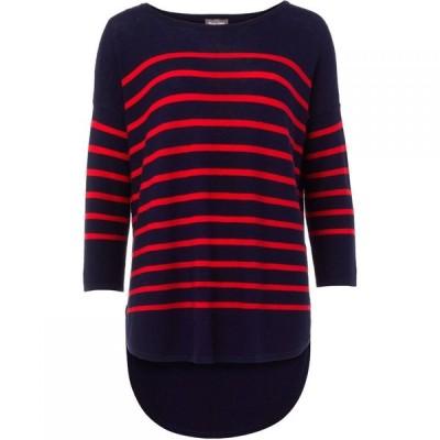 フェイズ エイト Phase Eight レディース ニット・セーター トップス Breton Stripe Megg Knitted Jumper Blue