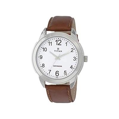 特別価格タイタンアナログホワイトダイヤルメンズ腕時計–1585sl07好評販売中