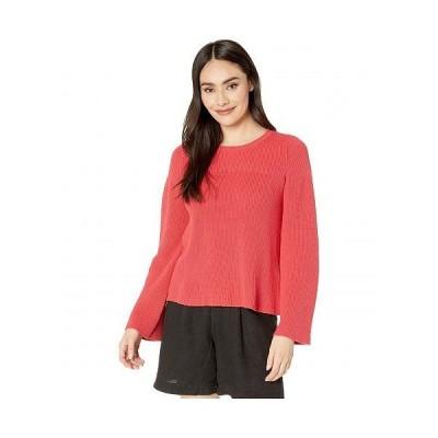 Michael Stars ミッシェルスターズ レディース 女性用 ファッション セーター Vanessa Crew Neck Swing Pullover Cotton Sweater - Geranium