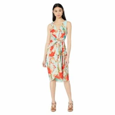 バッジェリー ミシュカ Badgley Mischka レディース ワンピース ノースリーブ ワンピース・ドレス Sleeveless Aqua Print Runway Dress A
