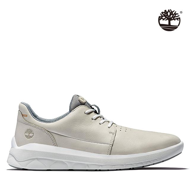 Timberland 男款白色全粒面革牛津休閒鞋|A2MPTF48