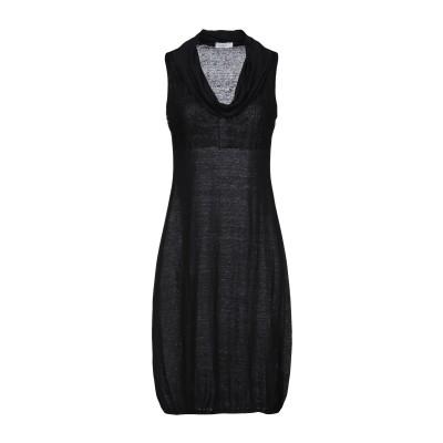 クルチアーニ CRUCIANI ミニワンピース&ドレス ブラック 42 麻 100% ミニワンピース&ドレス