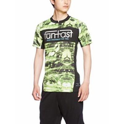 (ミズノ)MIZUNO サッカーウェア プラクティスシャツ [MEN'S] P2MA6085 37 ライムグリーン×チャコール M
