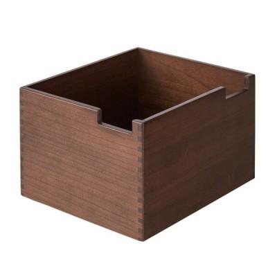 オープンラック用専用ボックス ブラウン 大 天然木 桐 小物 収納 ボックス ケース スタッキング ラック