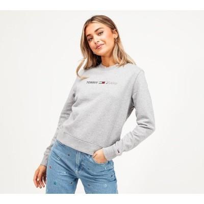 トミー ジーンズ Tommy Jeans レディース スウェット・トレーナー トップス modern logo sweatshirt Light Grey Heather