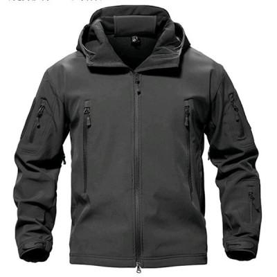 ジャケット ソフト シェル アウトドア 保温 迷彩服 裏起毛 上着 多機能 登山 フード付 防水