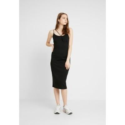 ロストインク レディース ワンピース トップス STRAPPY DRESS - Jersey dress - black black