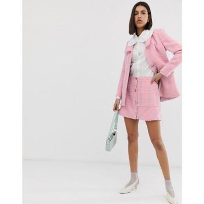 レズメ Resume レディース ミニスカート スカート Milana twead mini skirt Pink