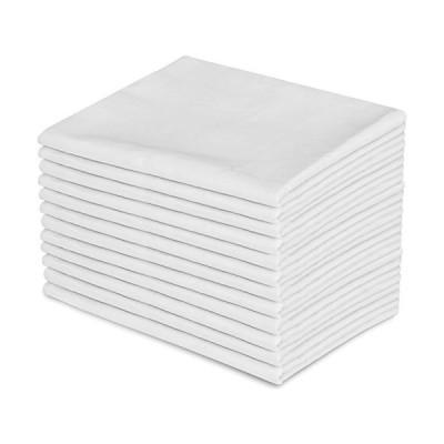海外限定 Apparel Innovations Twin Size White Flat Sheet, T-180 Size 66 x 104 (60)