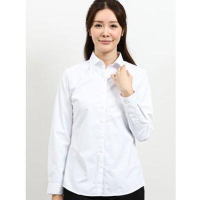 透け防止 形態安定レギュラーカラー長袖シャツ