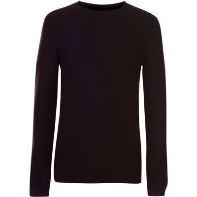 レーベルラボ Label Lab メンズ ニット・セーター トップス Dale Rolled Edge Rib Crew Sweater Plum